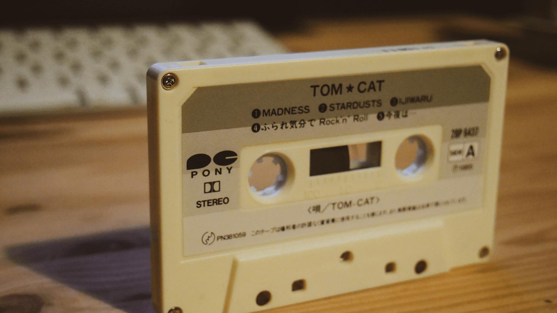 TOM CATのカセットテープのボディ