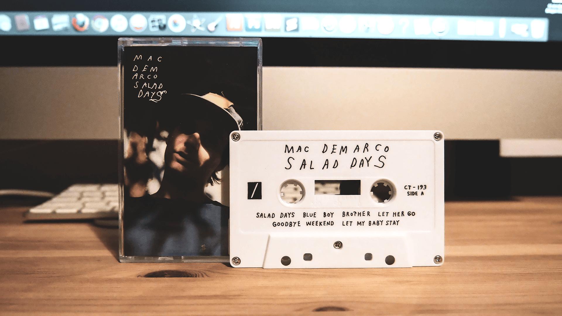 Mac DeMarcoの名盤「Salad Days」のカセットテープ