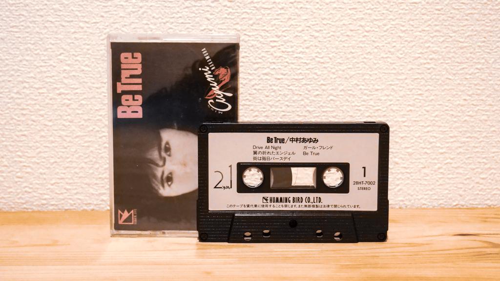 翼の折れたエンジェルも収録。中村あゆみのカセットテープ「Be True」