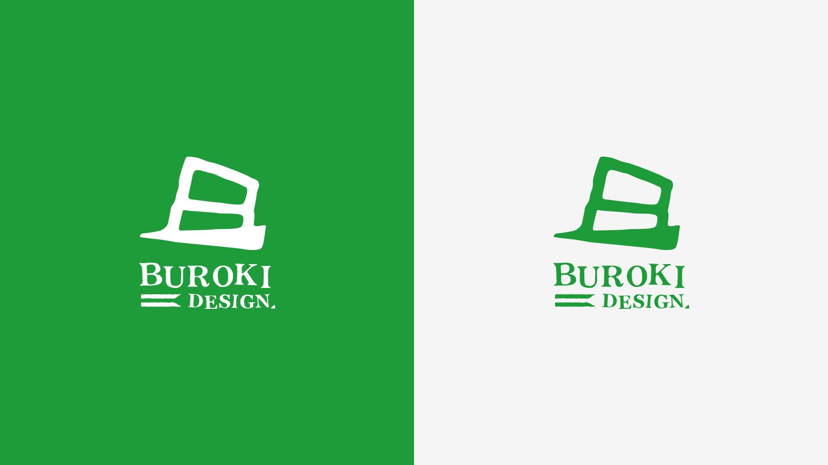 BUROKI design開始当初のロゴ