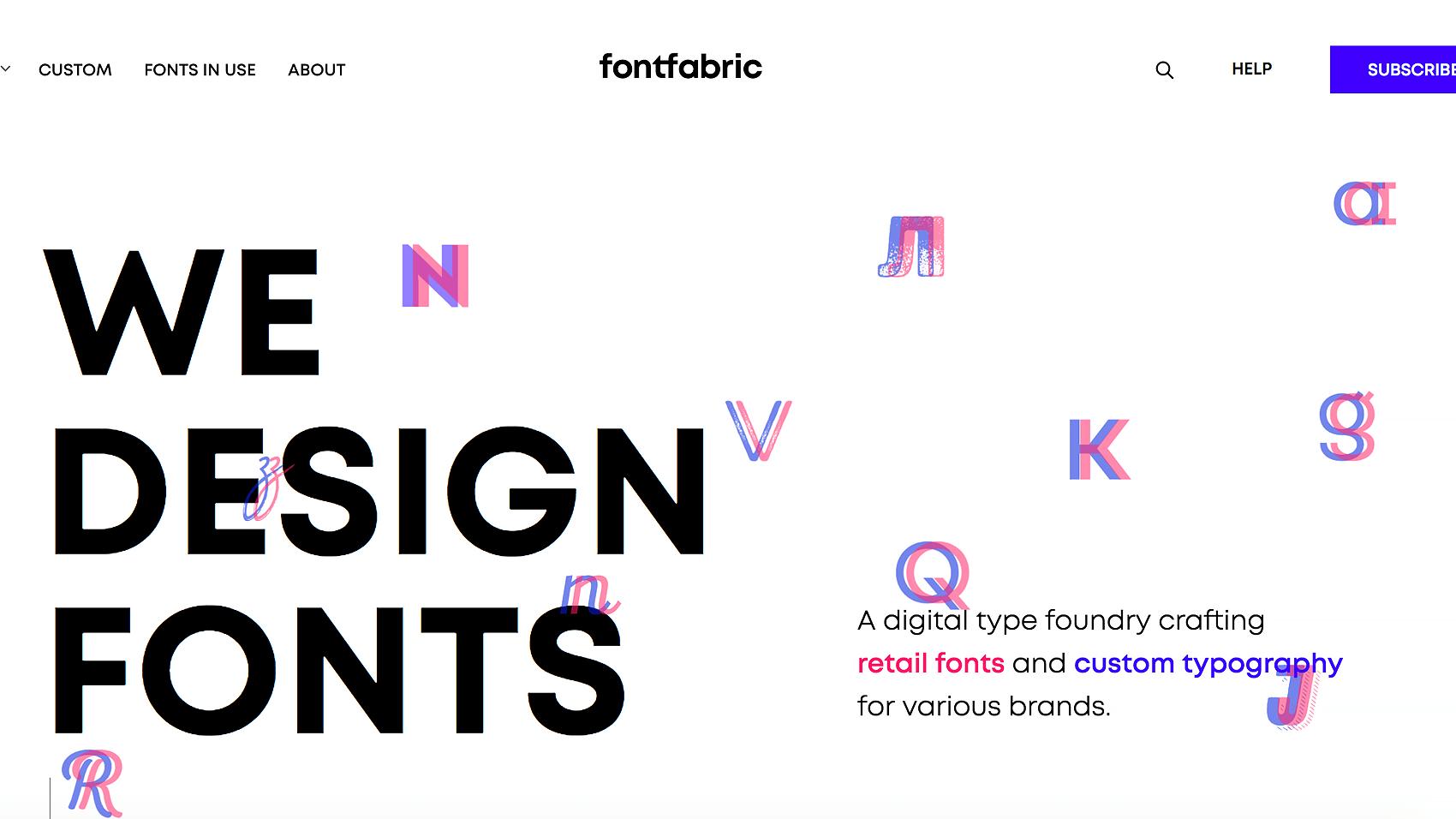 fontfabricのTOPページ画像