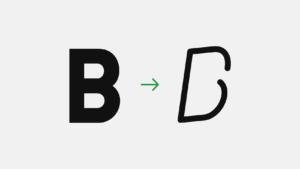 ロゴデザインやタイポグラフィに使える。フォントの印象をガラッと変える方法
