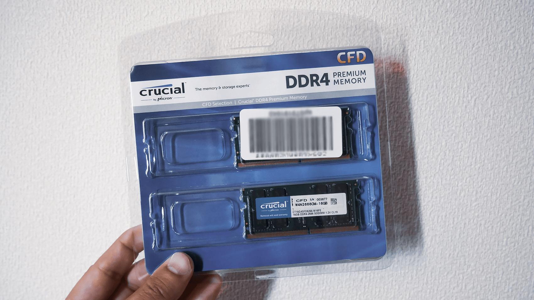 Timetecのメモリ16GB
