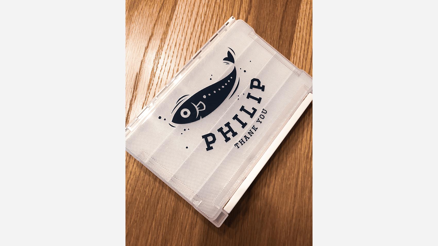 フィリップのロゴが入った釣具ケースその1
