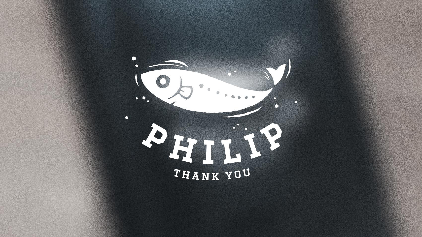 元同僚が「しらすのフィリップ」のロゴを勝手にステッカーにして楽しんでいる件