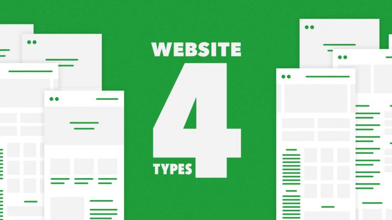 webサイトは4つのタイプに分かれる。各タイプの特徴とデザイン時に気をつけたいこと