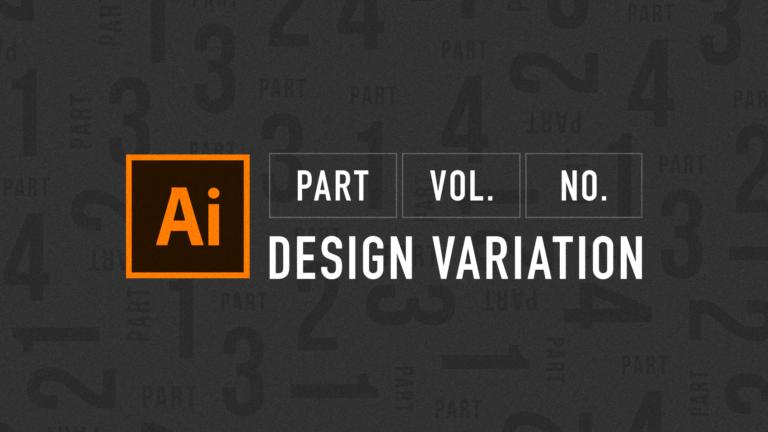 「PART」「vol」「No」をタイポグラフィを用いてつくるデザインバリエーション