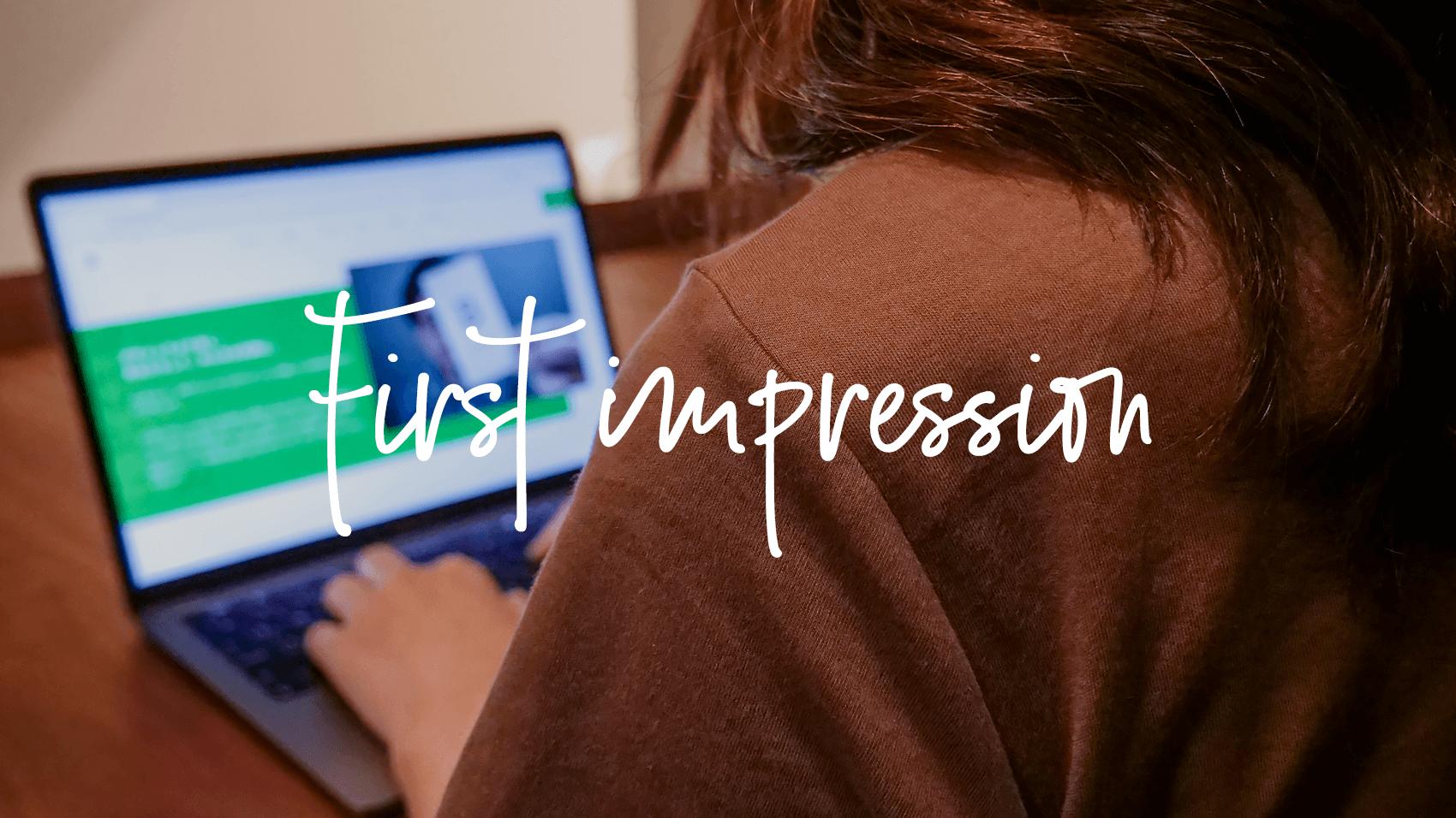 ホームページの出来映えが、あなたの「第一印象」につながる時代です