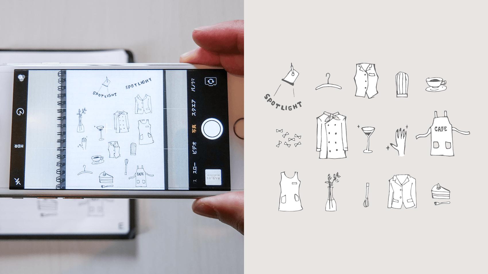 手描きイラストをillustratorでデータにする画像トレースのやり方