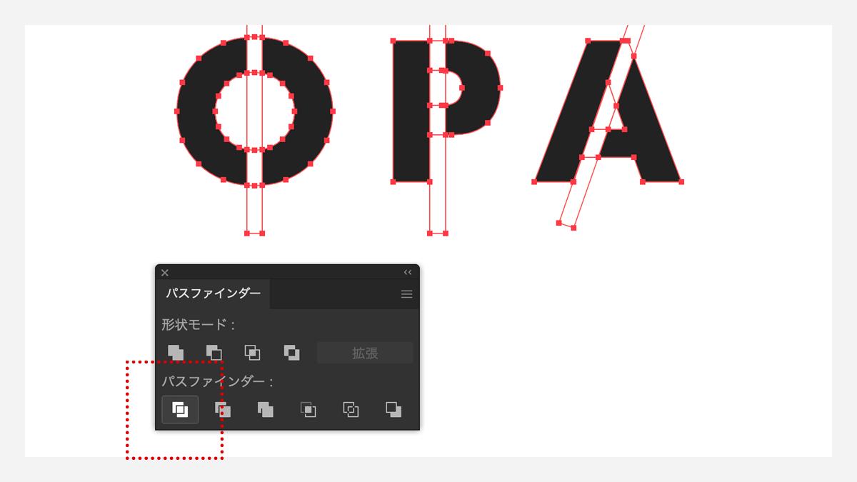 空洞のある文字のステンシル方法 その4