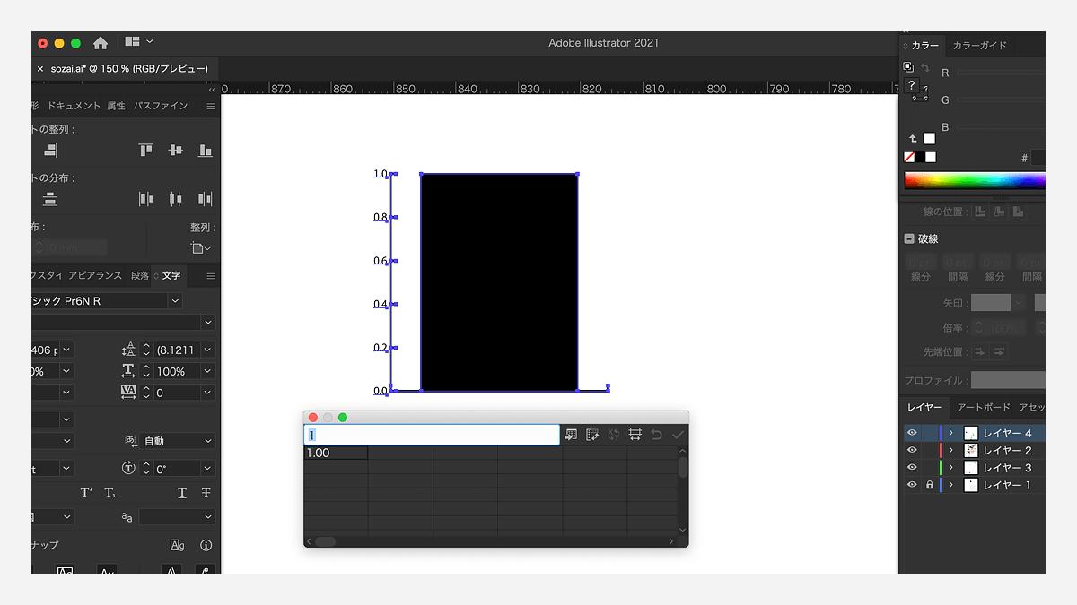 illustratorのグラフツール