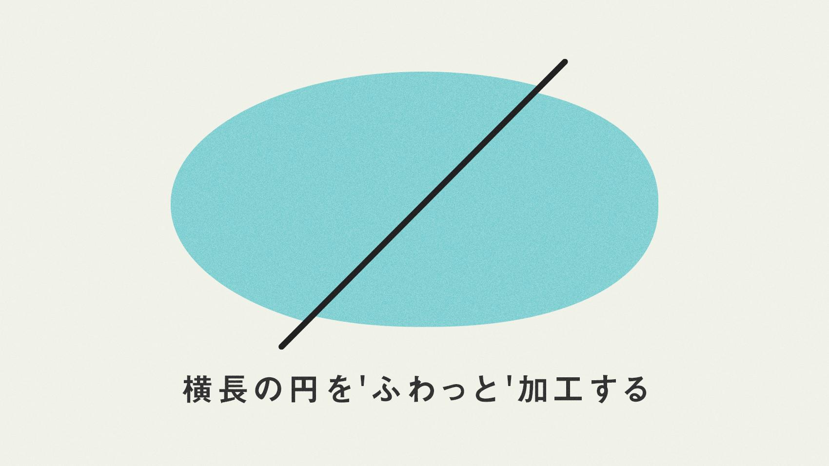 illustratorで横長の円形オブジェクトをふわっと変形させる方法