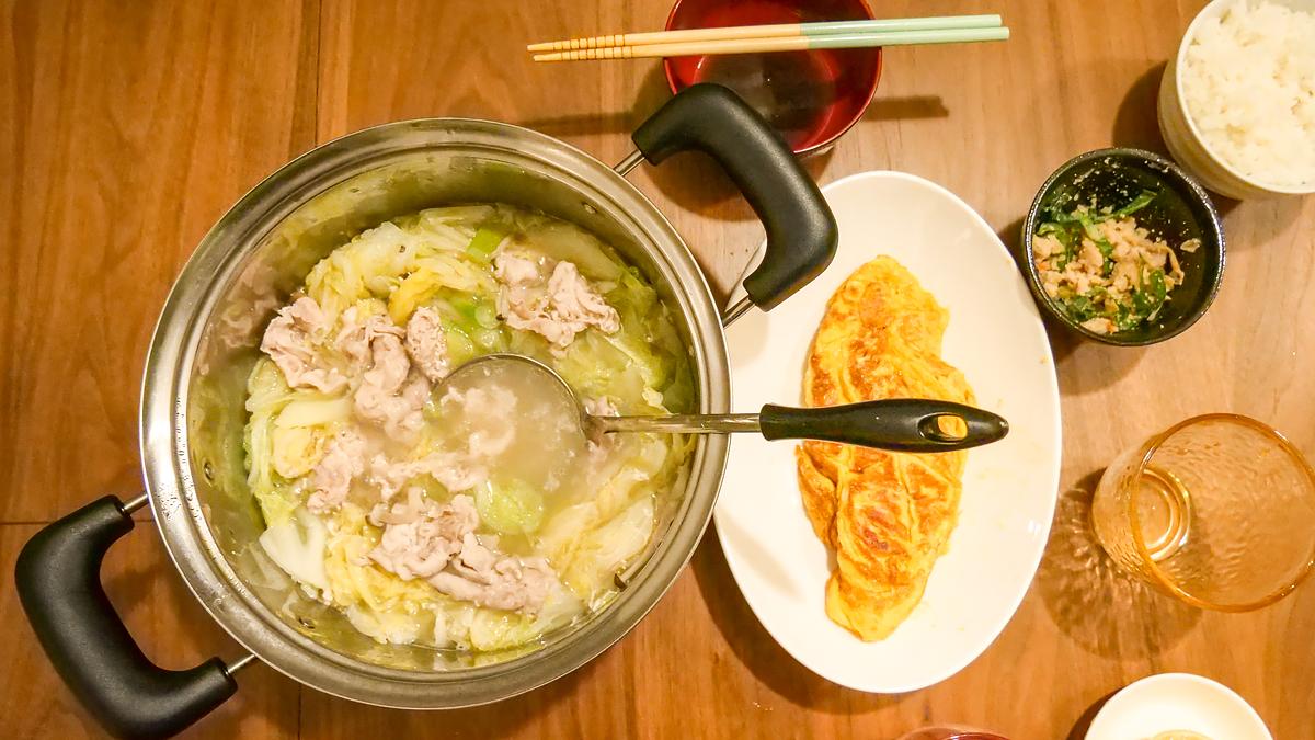 生レモンポン酢で豚しゃぶ鍋
