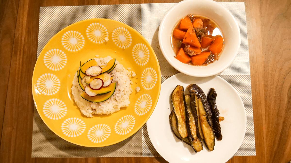 3日目の献立 塩さばの彩り野菜ちらし