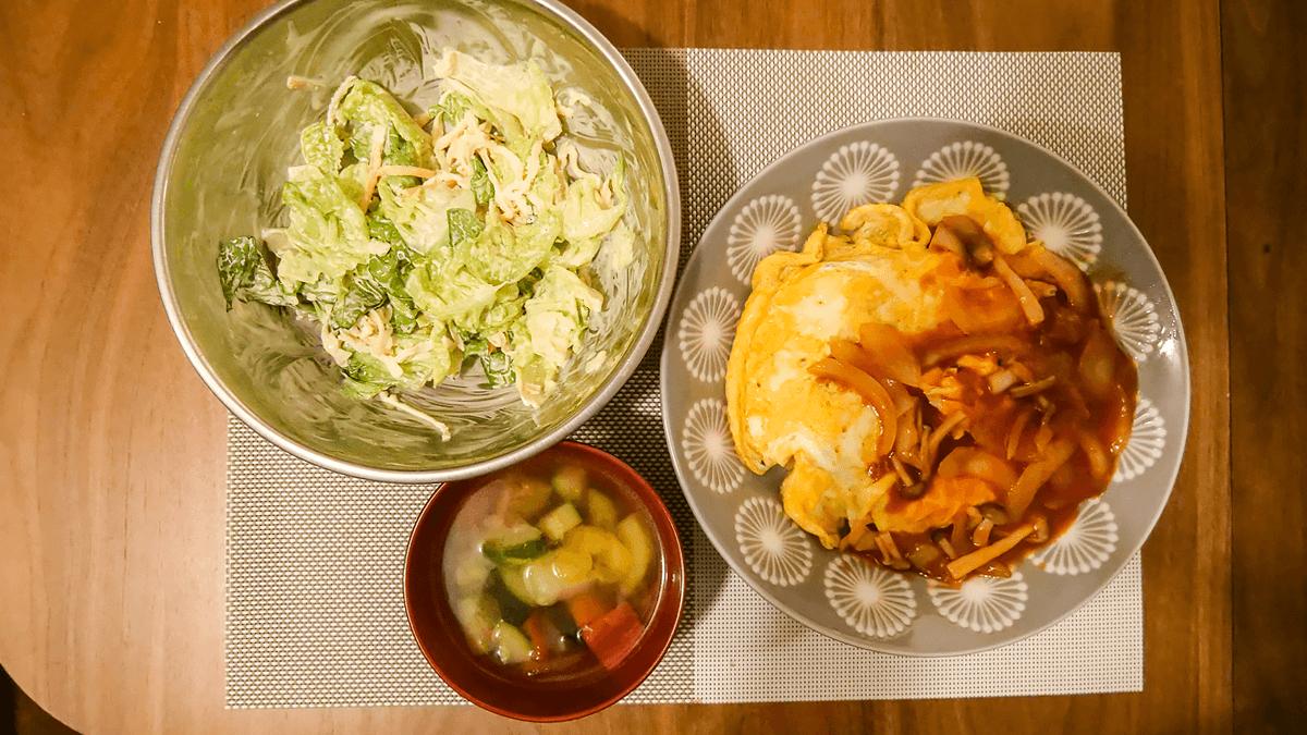 ちゃんとoisix 18周目の5日目の夕食