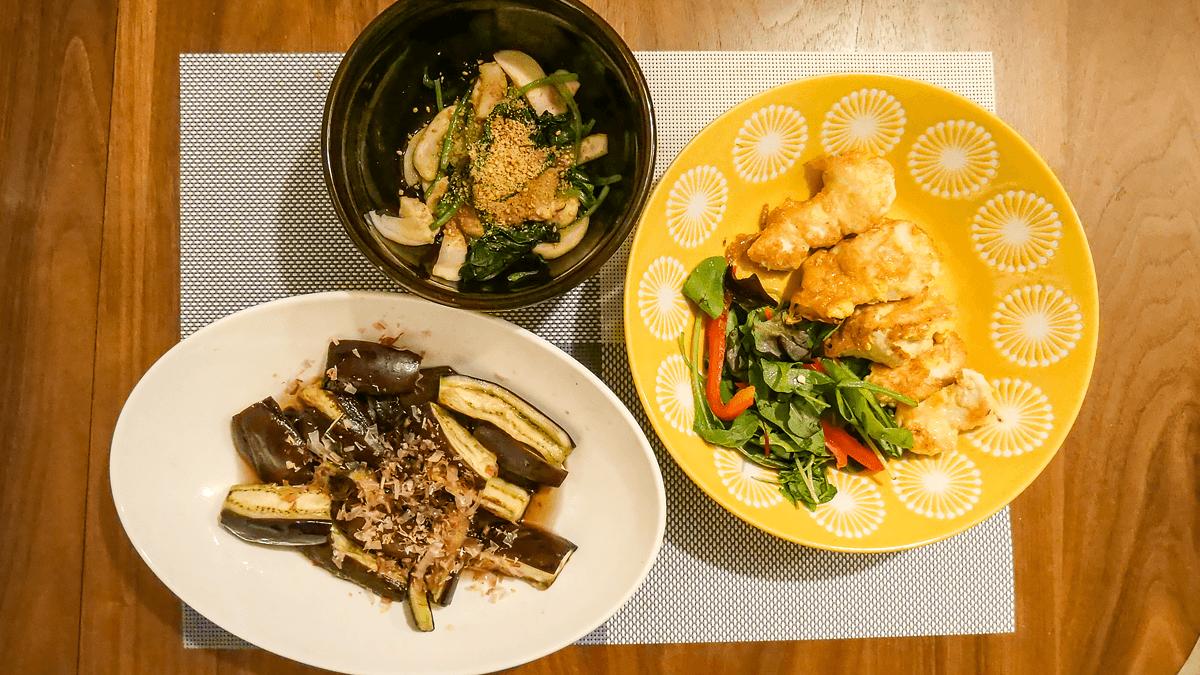ちゃんとoisix 20周目の5日目の夕食 鶏ムネ肉でやわらかピカタ