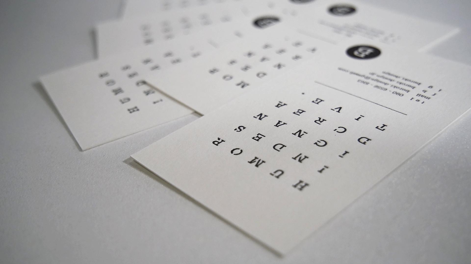 BUROKIの活版印刷名刺の裏面