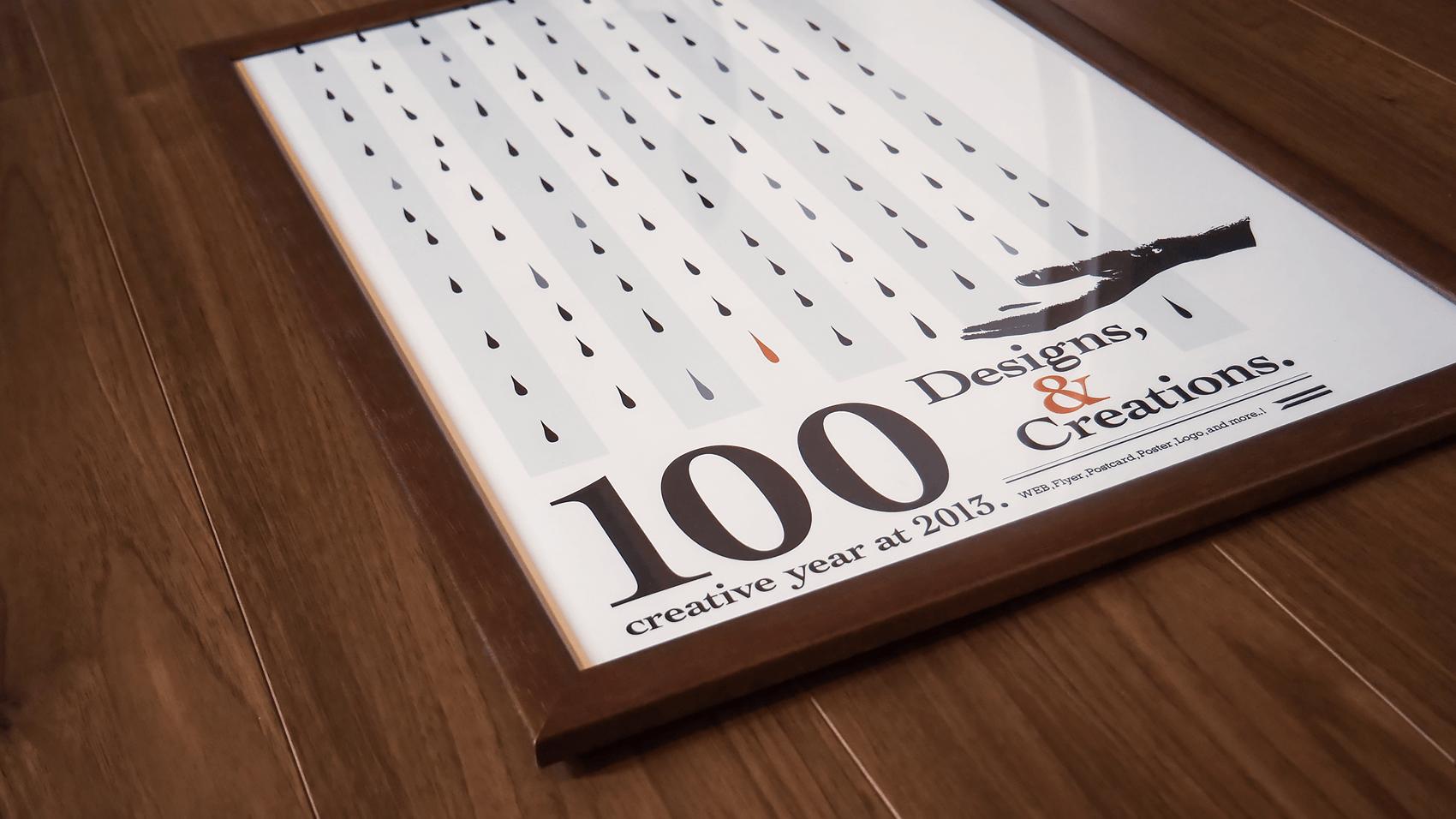 一年の目標を掲げるためにつくった海外のレトロ風ポスターデザイン