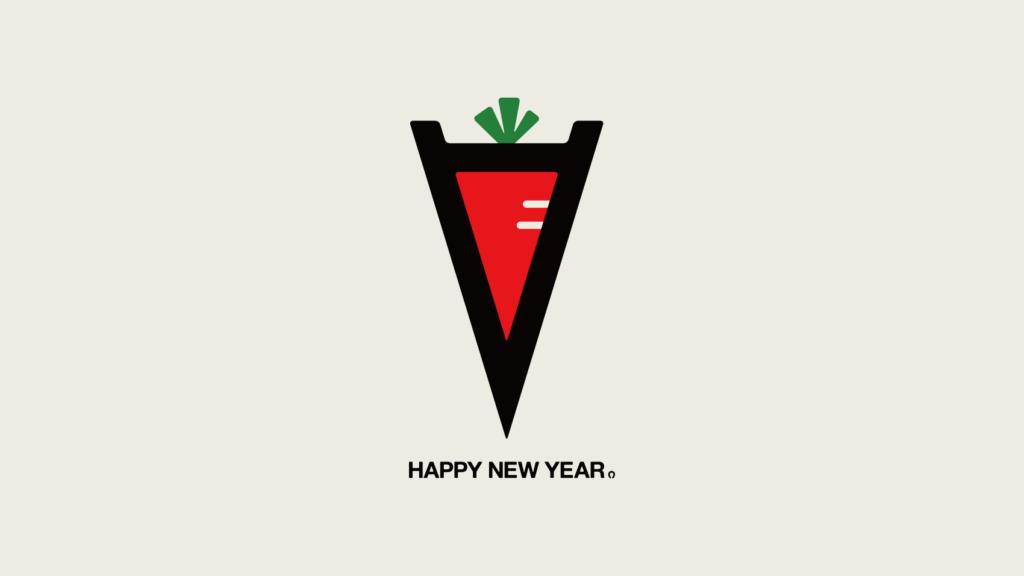 2014年の年賀状用に制作した午年オリジナルステッカーデザイン