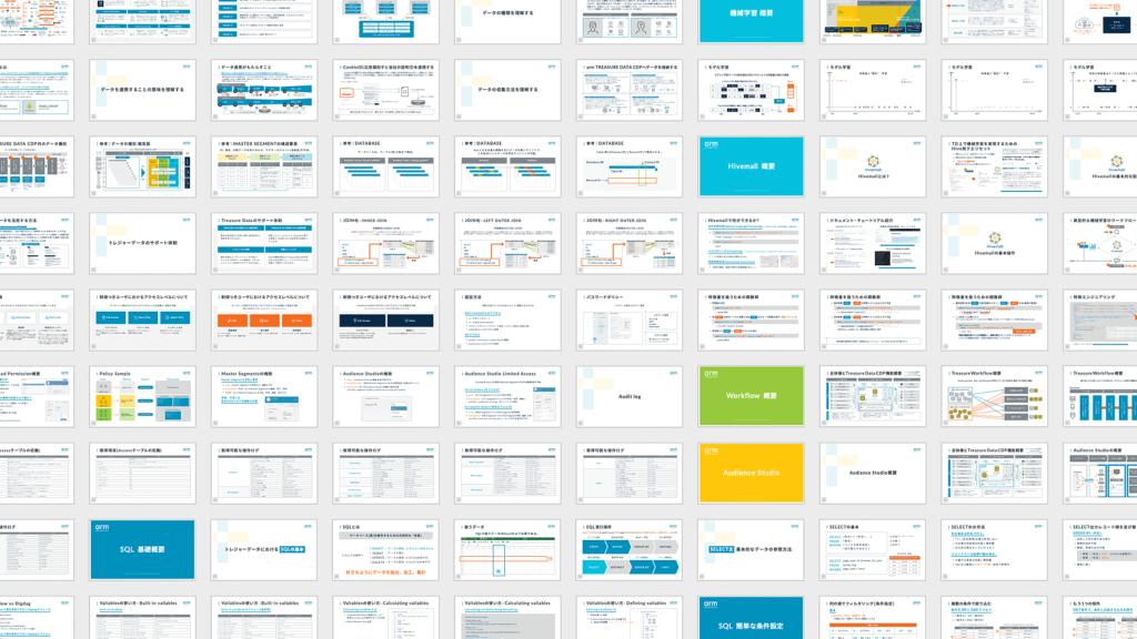 トレジャーデータ株式会社さんの対エンドユーザーへのサービストレーニング資料デザイン