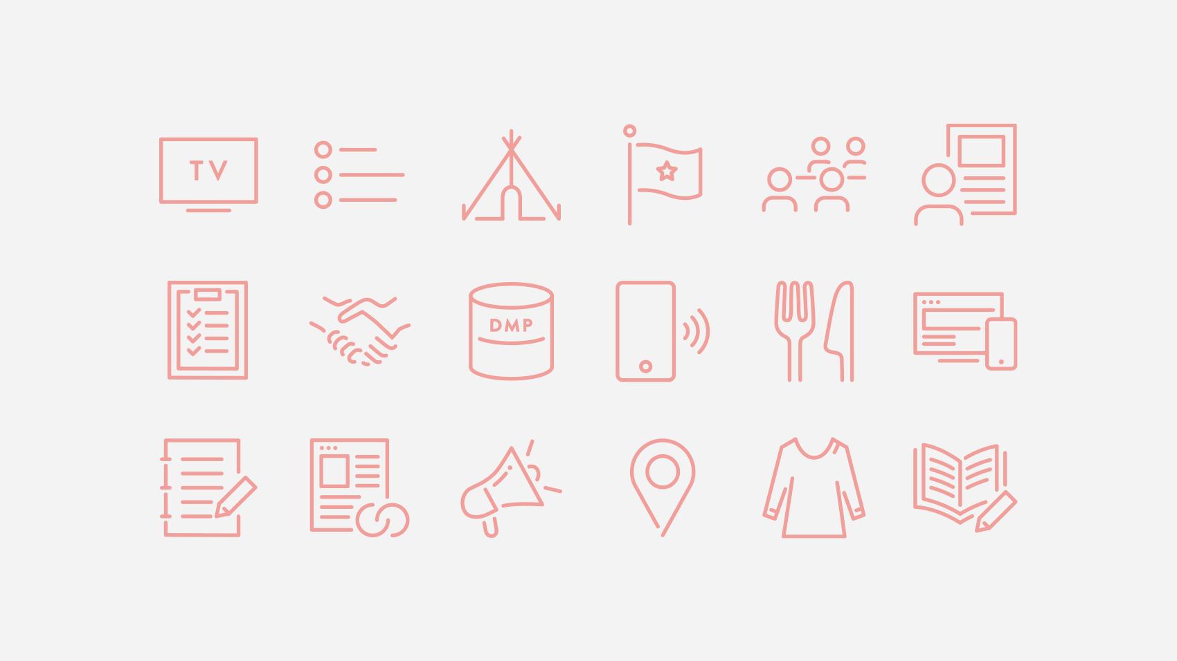 プレゼン資料やサイトに使える女性らしさを意識したアイコンデザイン