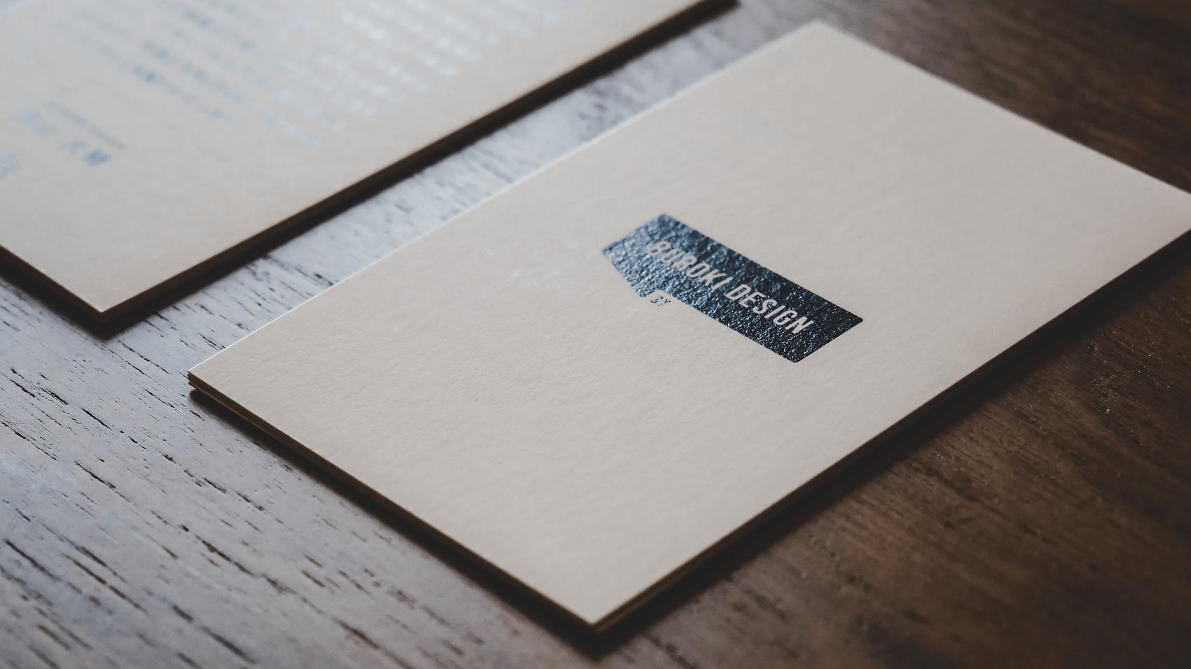 BUROKI design 1周年記念カード
