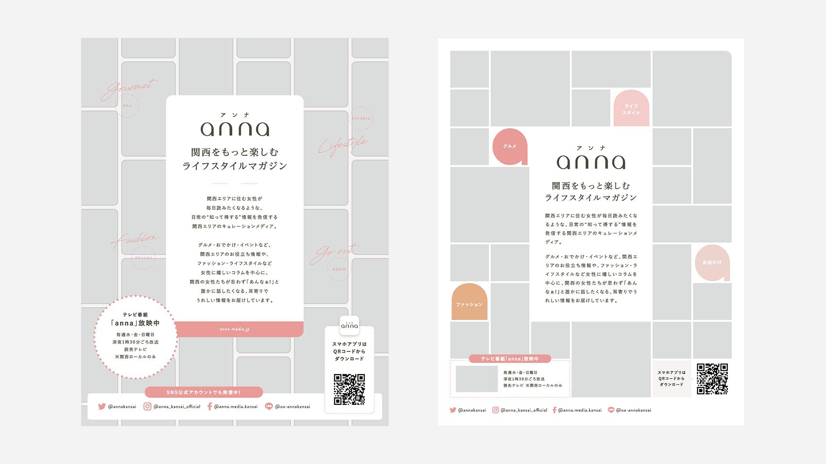 制作開始直後のanna(アンナ)の雑誌広告デザイン