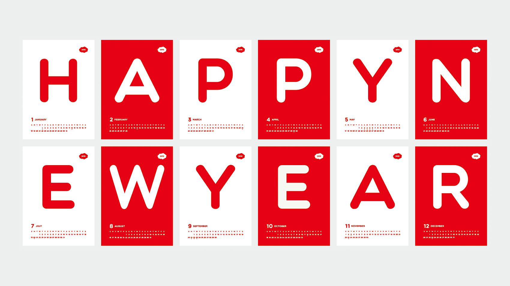 BUROKI design 2015年の年賀状デザインその2