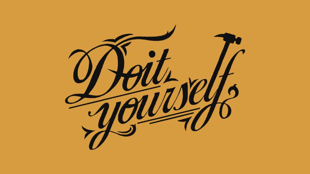 道具を交えながらつくる「Do It Yourself」のカリグラフィデザイン