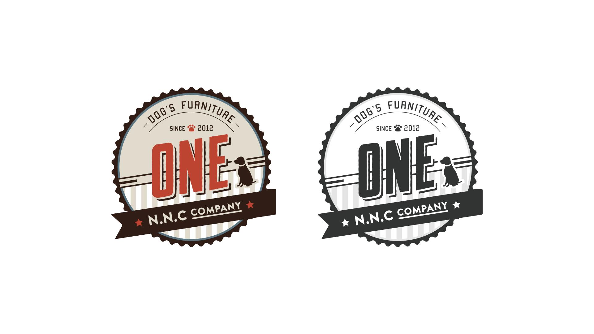 ドッグブランド「N.N.C COMPANY ONE」さんのロゴデザイン