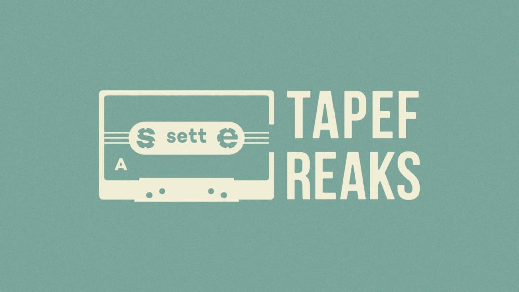 カセットテープをモチーフにしたロゴデザイン