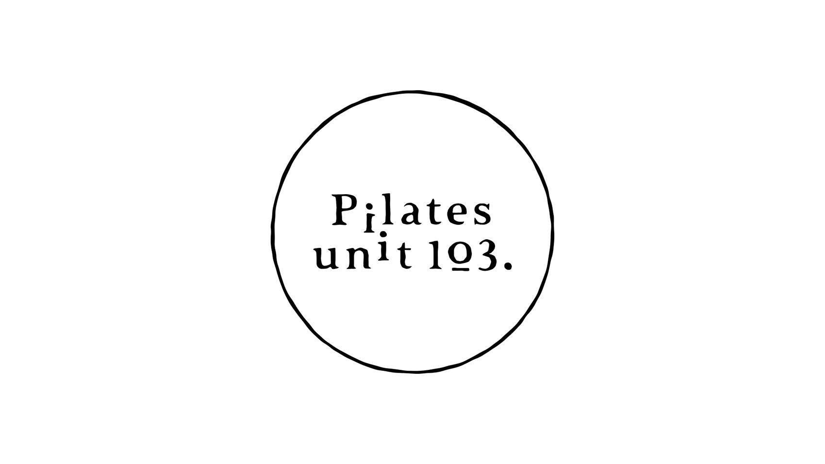 カフェの雰囲気を。ピラティススタジオ「Pilates unit 103.」のロゴデザイン