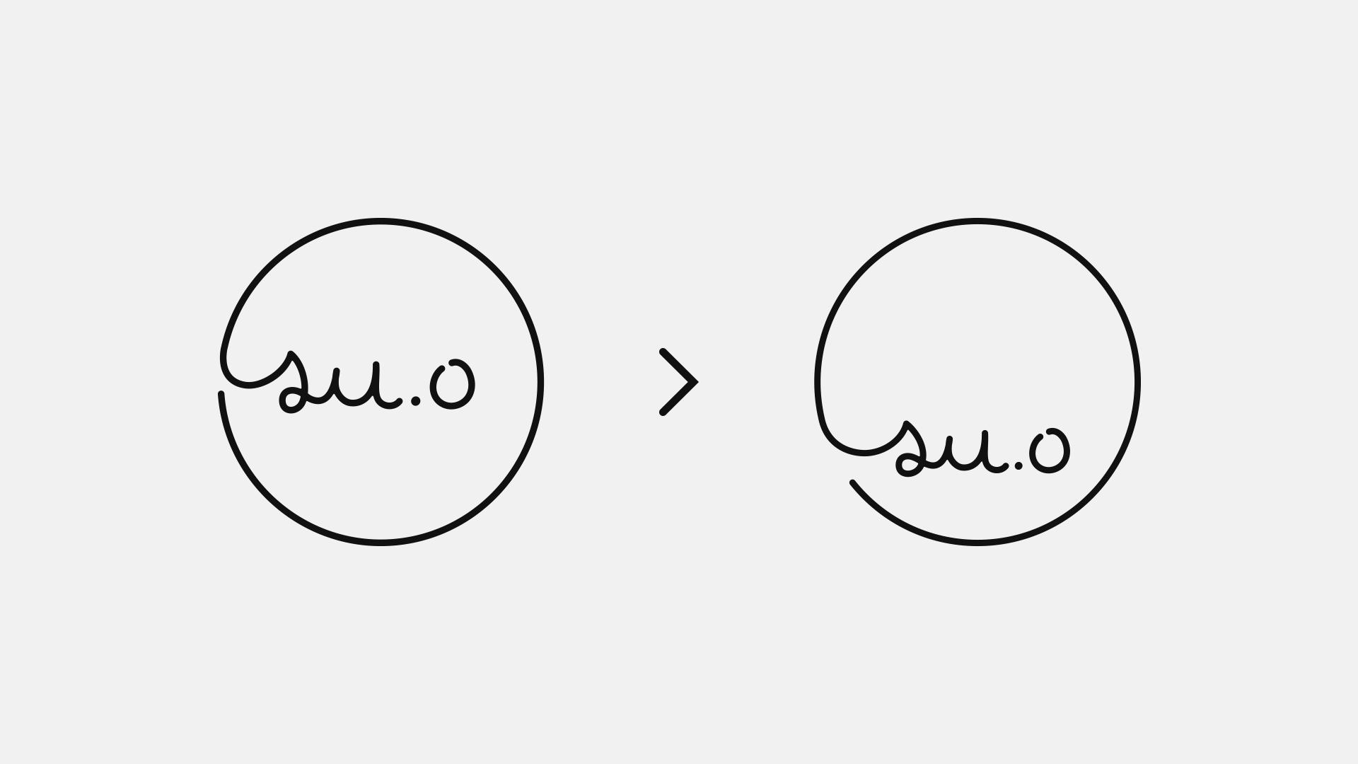 文字の配置の比較画像