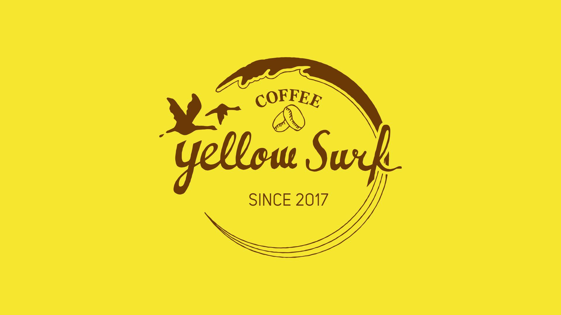 yellow surf coffeeさんのロゴマーク