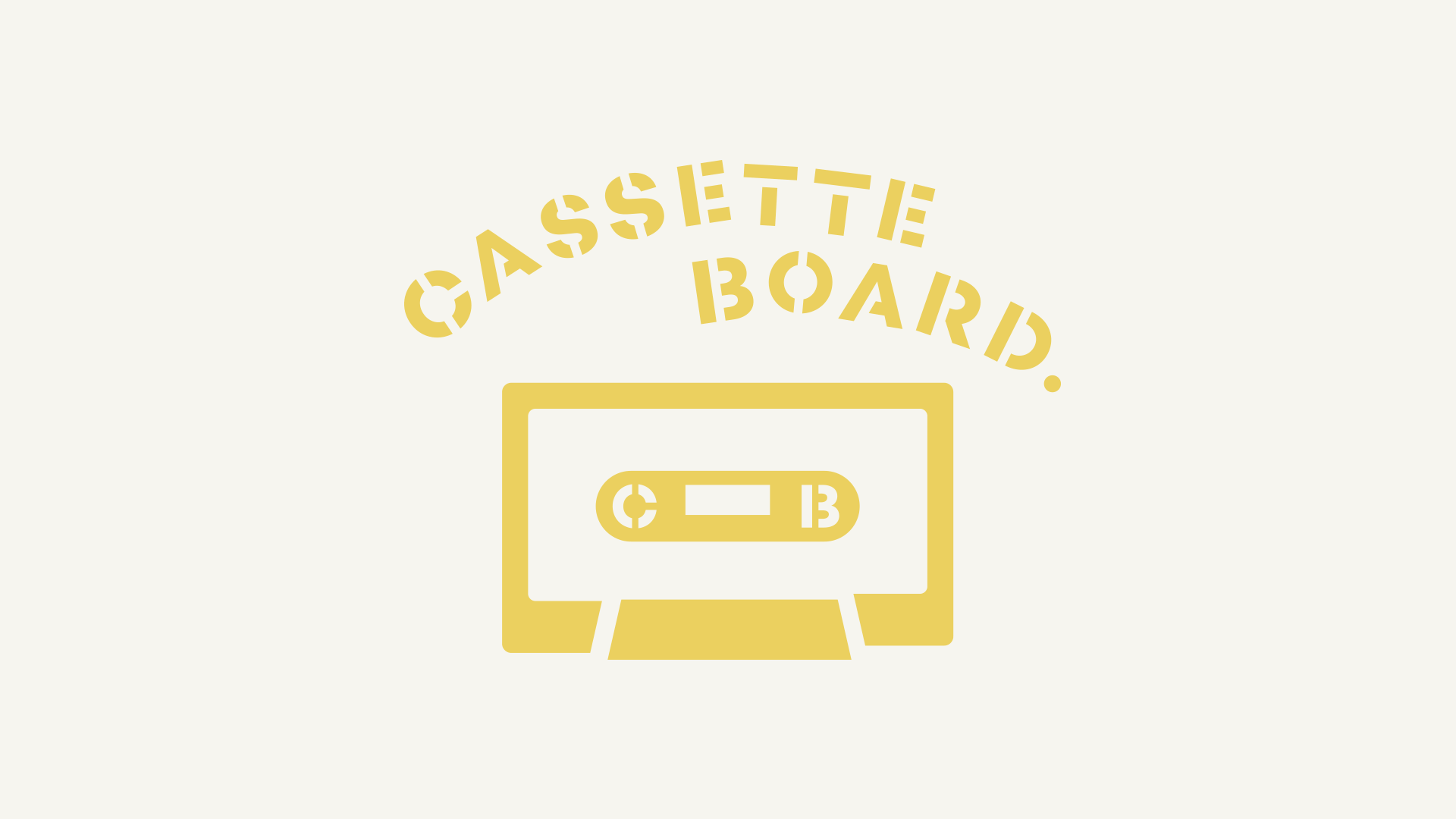 焼印用に制作したCASSETTE BOARDのロゴデザイン