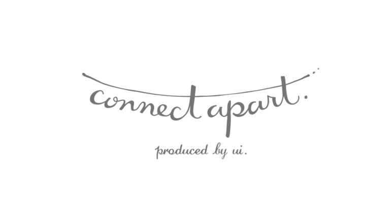 つながりをイメージしたconnect apart(コネクトアパート)のロゴデザイン