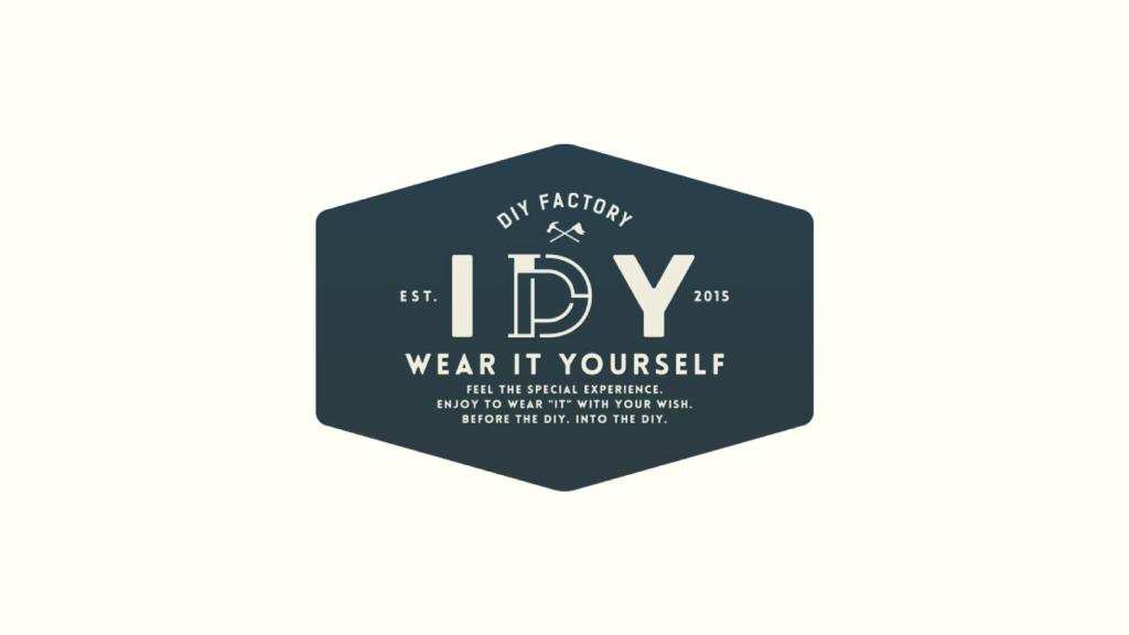 自社のアパレルブランド「IDY(アイディ)」のロゴデザイン
