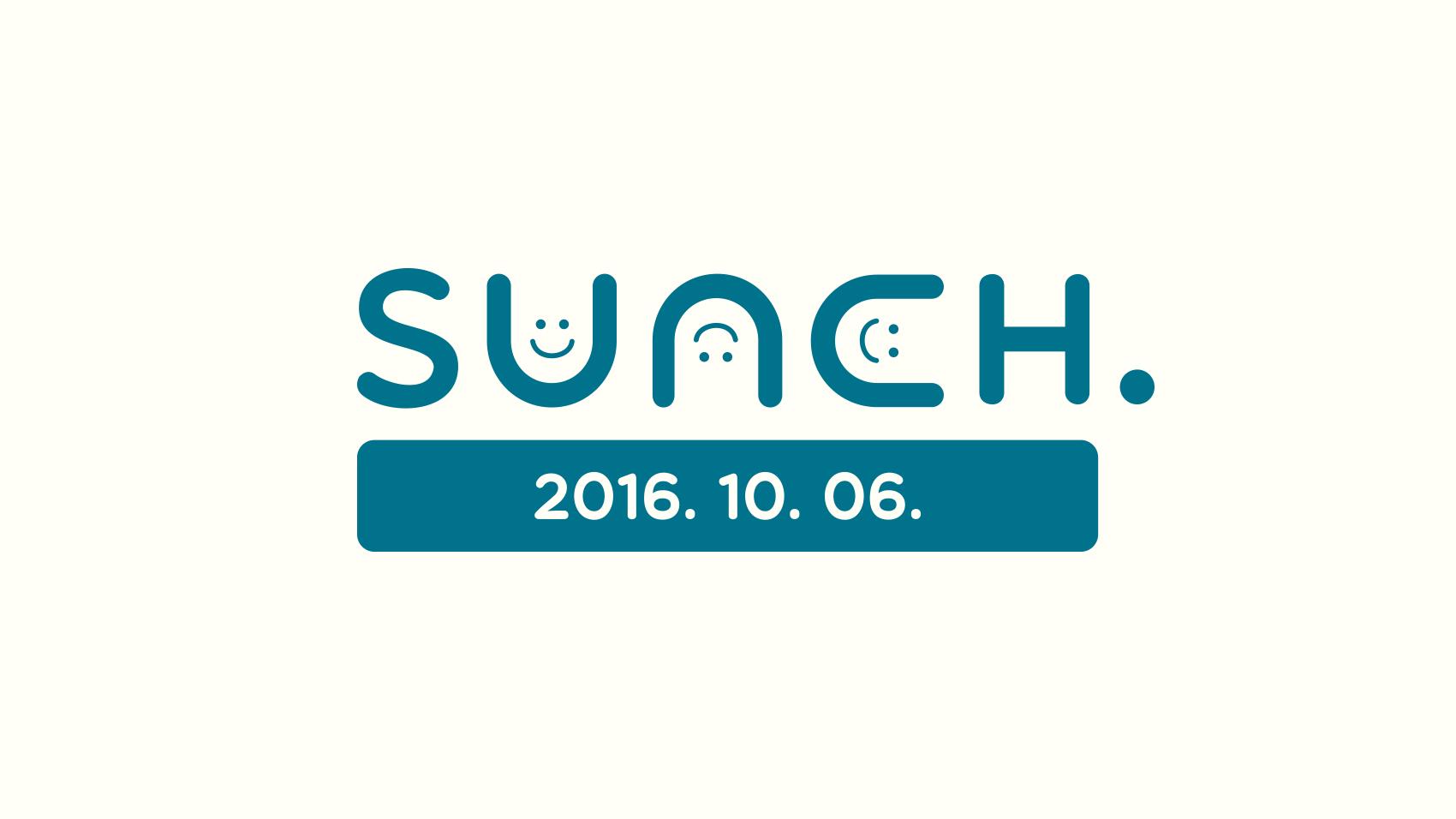 sunchロゴの日付とカラーが違うバージョン