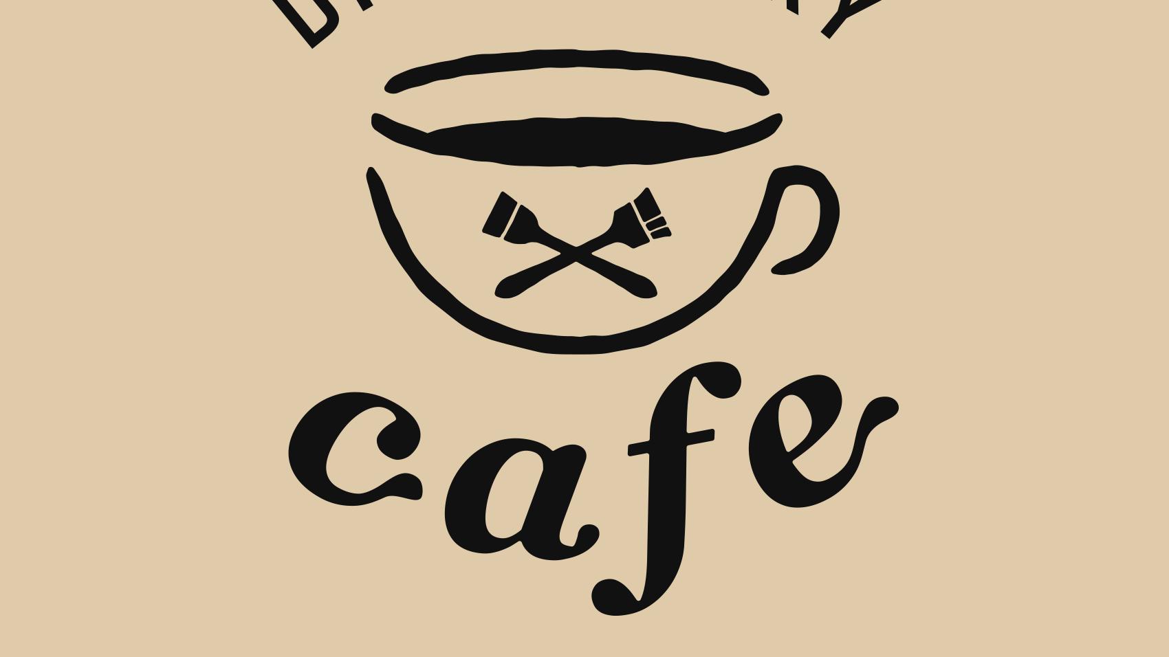 DIY FACTORY cafeのロゴのディティール