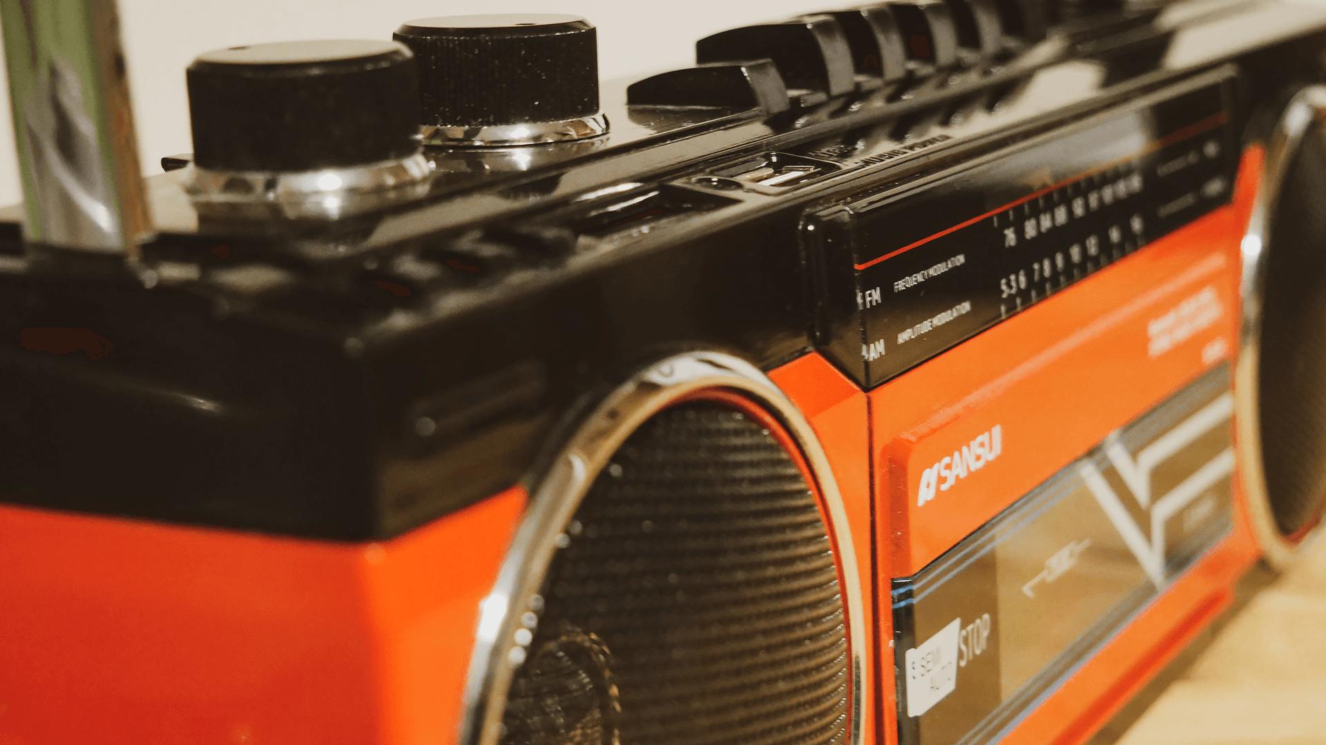 SUNSUIステレオラジオカセット