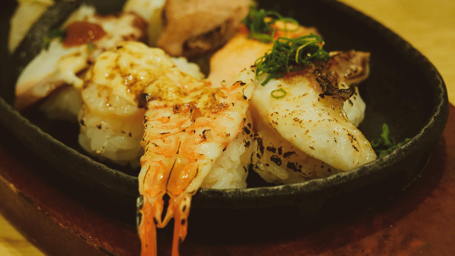 炙り寿司八貫