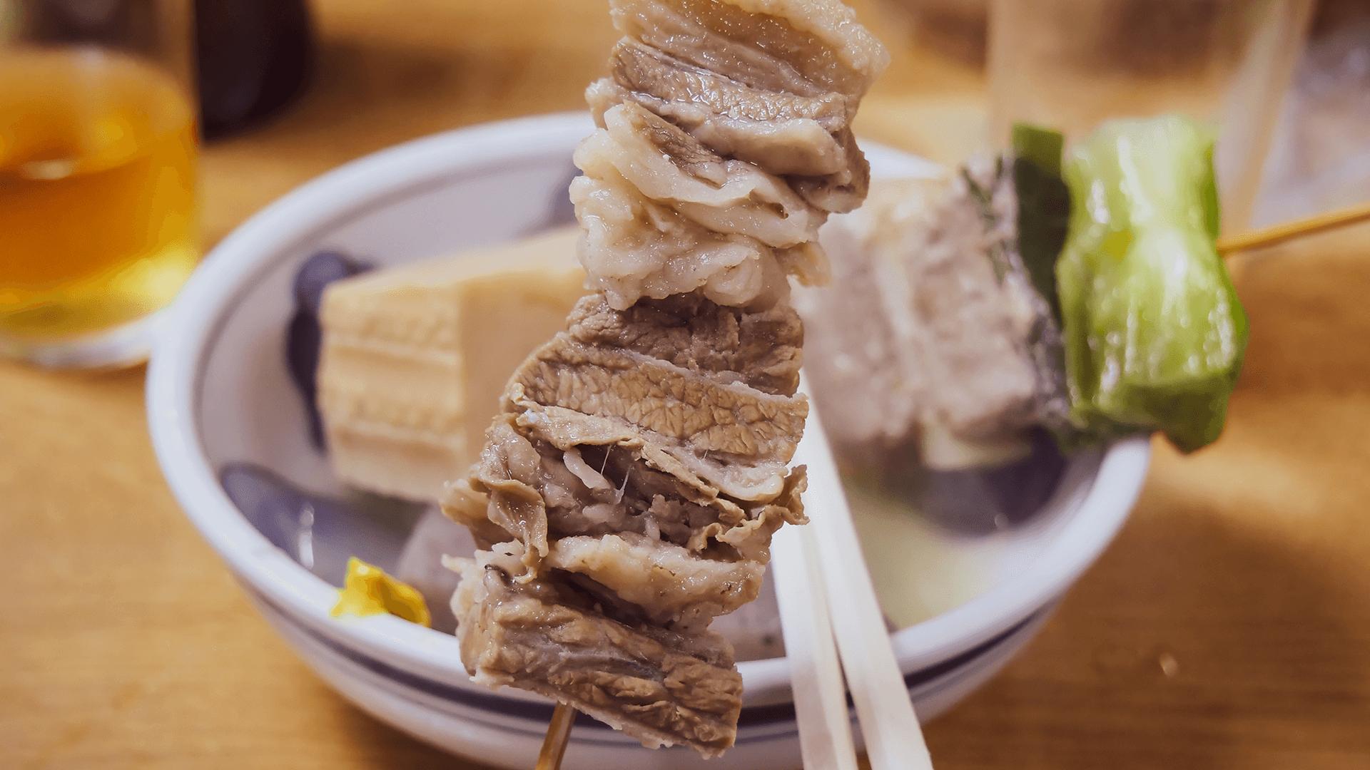 すじ肉アップ写真