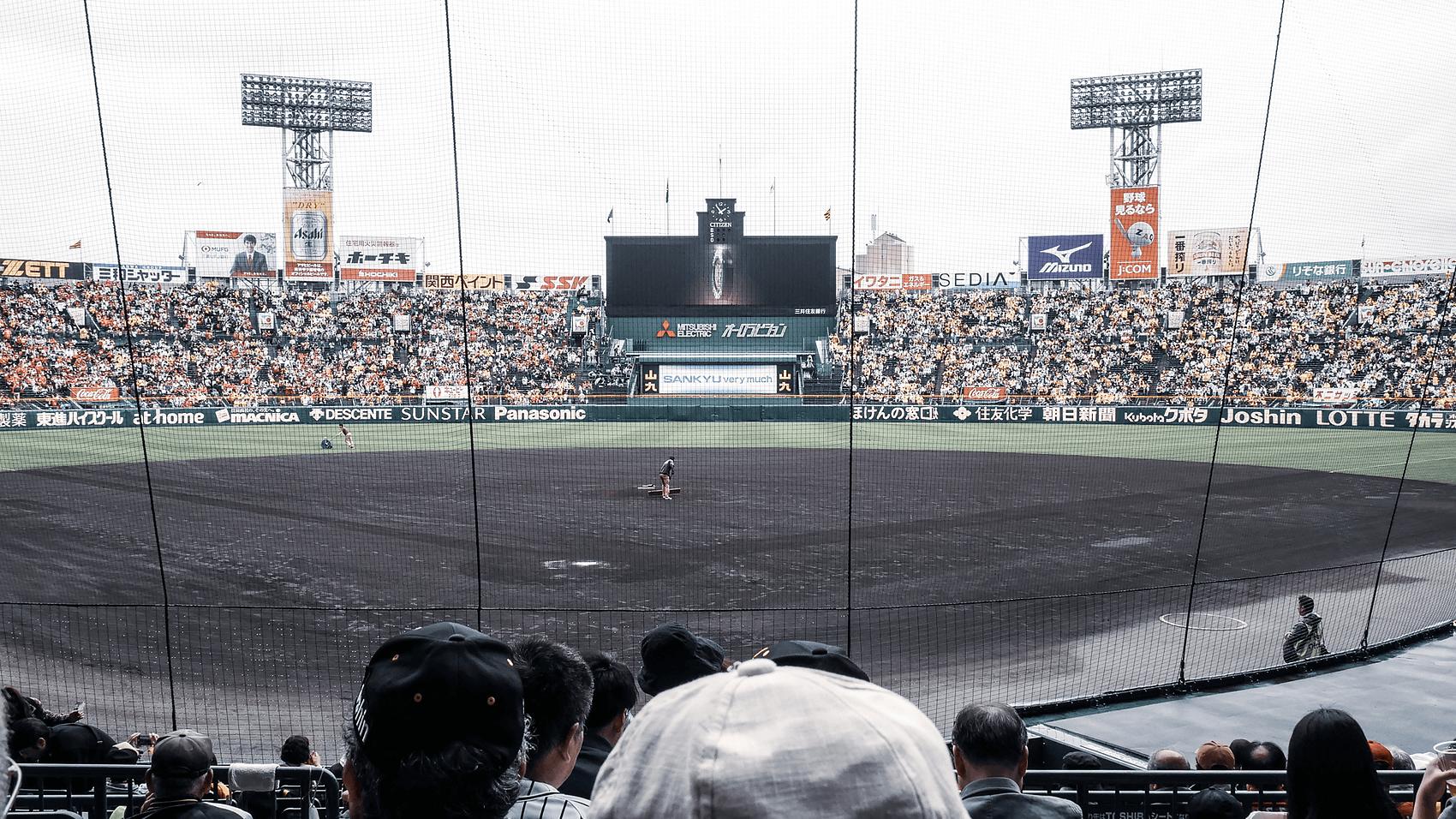 席から見た球場