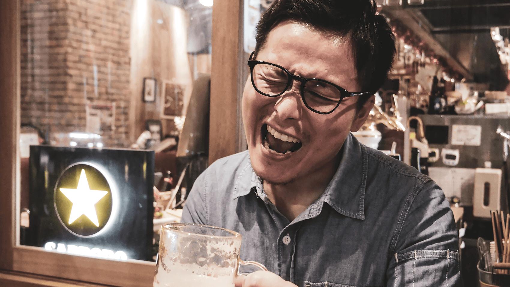 CM風のビール写真その1