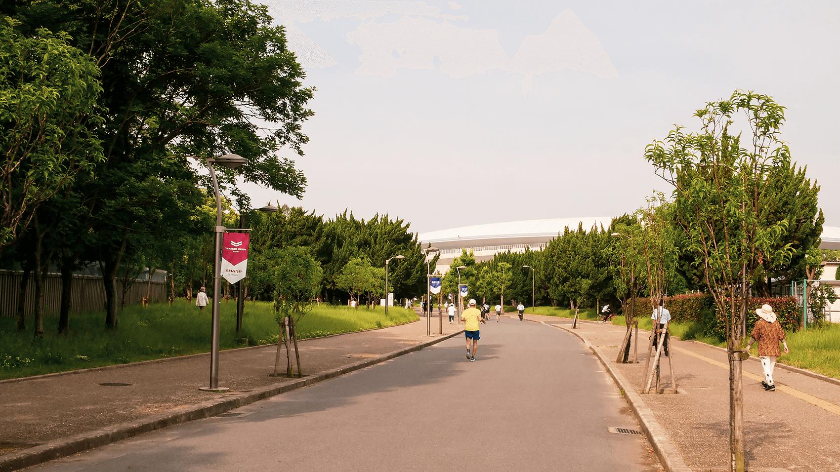 朝の長居公園の様子