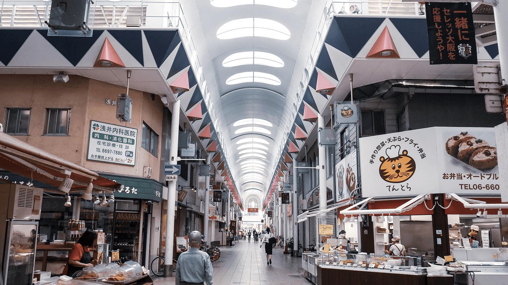 朝の駒川商店街
