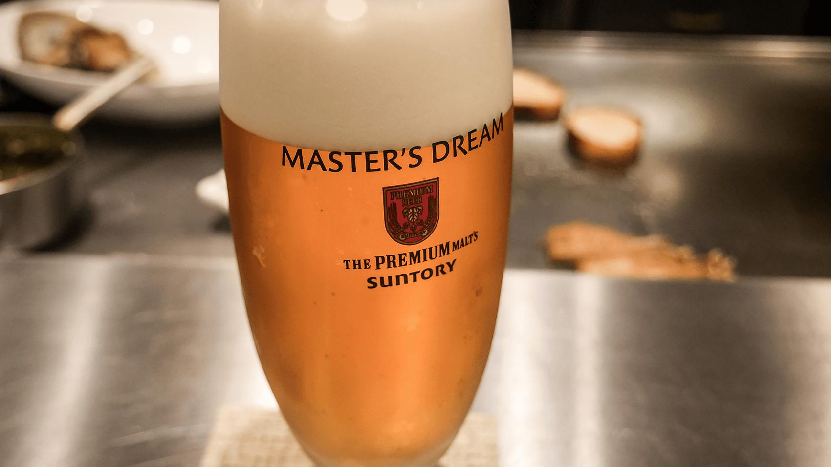 注文したビール