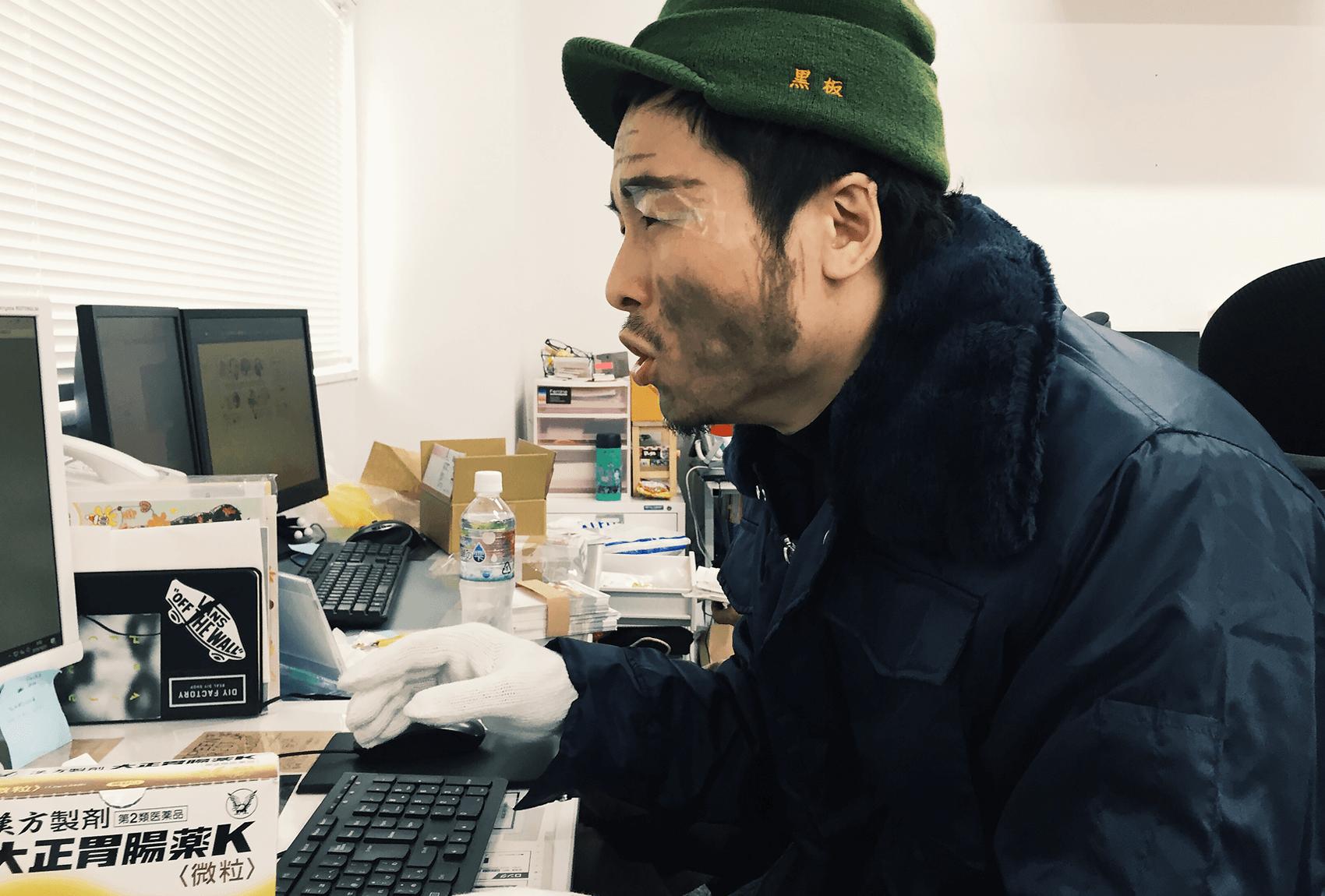 黒板五郎さんの仮装