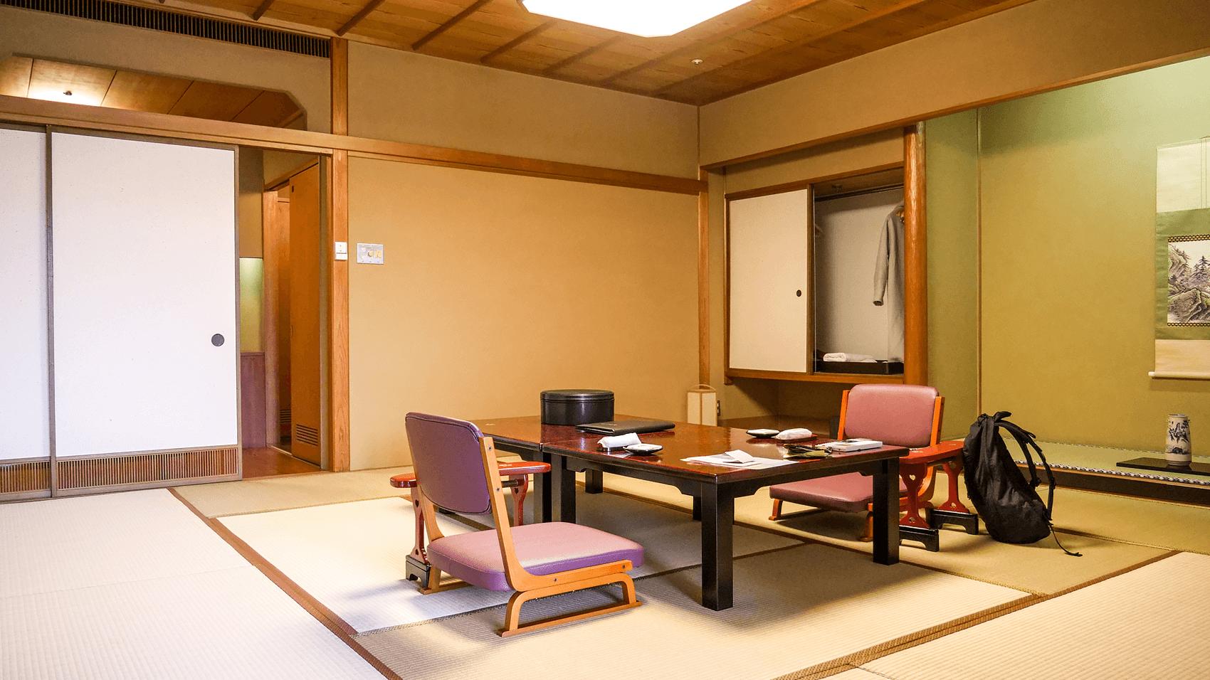 宿泊する部屋の写真