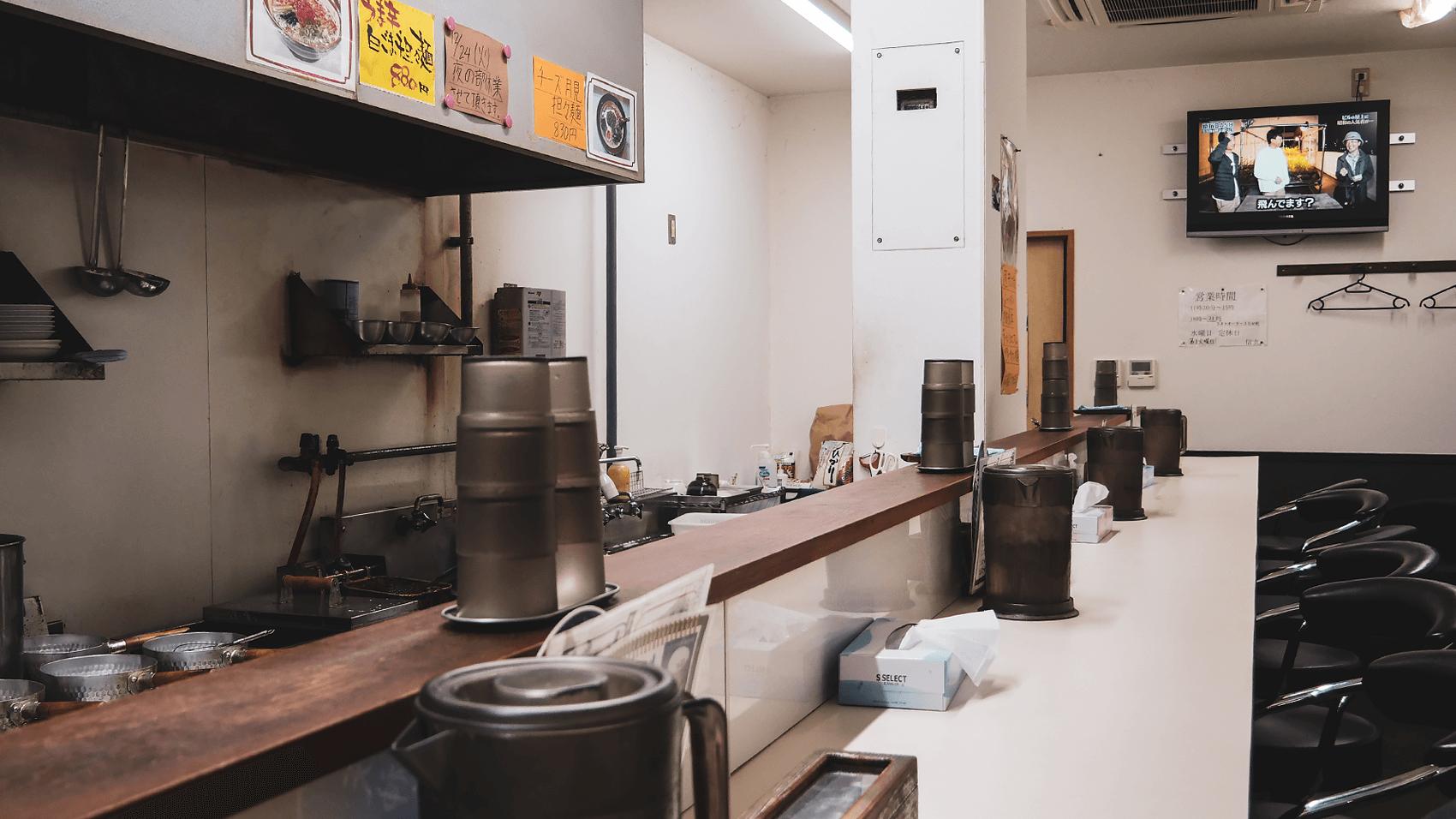 担々麺 信玄の店内の雰囲気